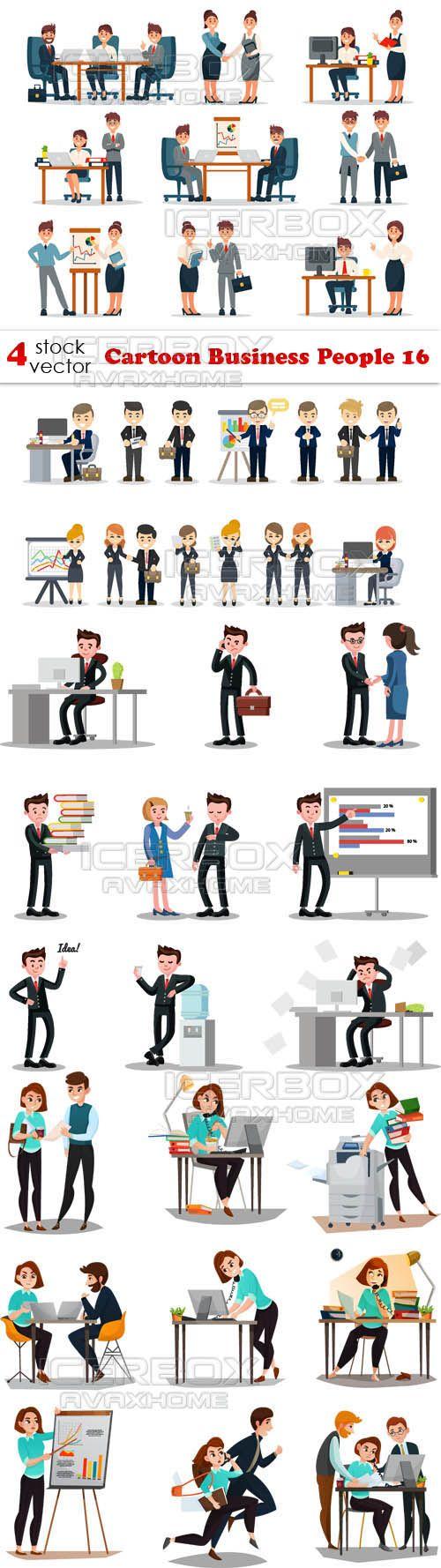 Vectors - Cartoon Business People 16