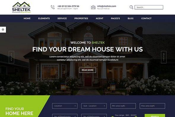 CreativeMarket - Sheltek v1.0 - Real Estate HTML Template