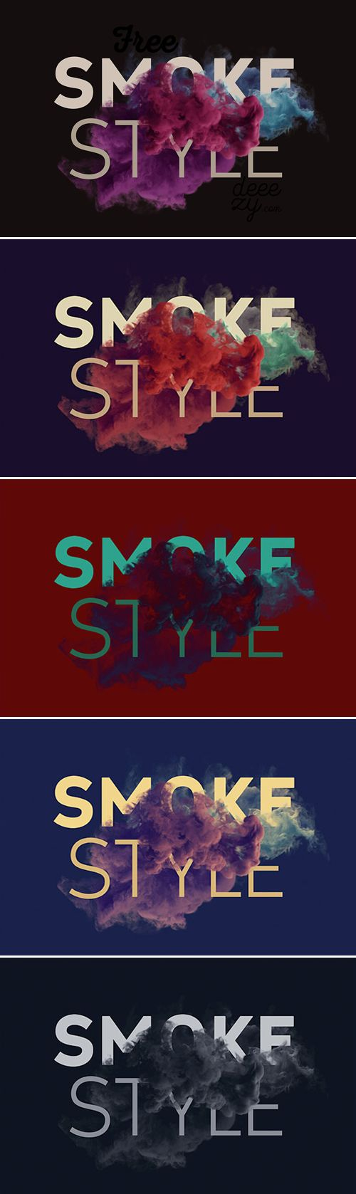 PSD Mock-Up - Smoke Scene PSD