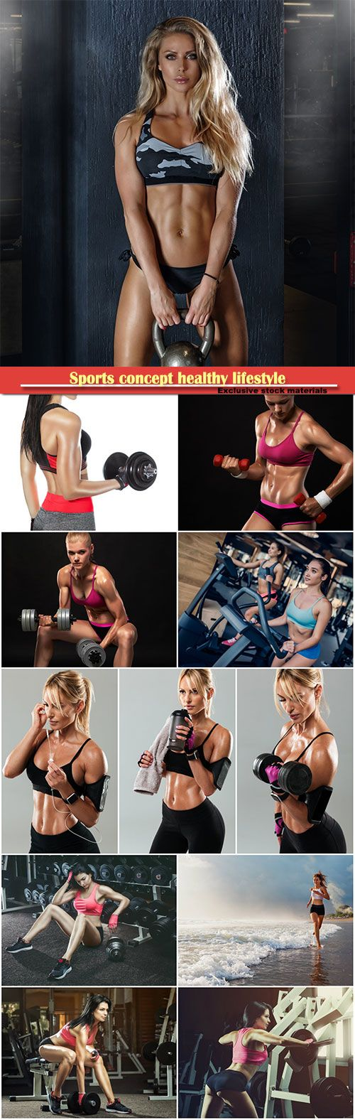 Sports concept fat burning and a healthy lifestyle