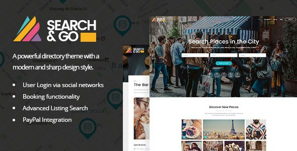 ThemeForest - Search And Go v2.0 - Modern And Smart Directory Theme