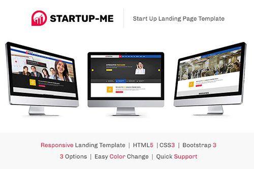 CreativeMarket - StartUp-Me HTML Landing Page