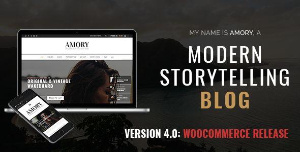 Amory Blog v4.3 - A Responsive WordPress Blog Theme