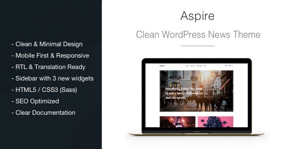 Aspire v1.2.8 - News & Magazine Clean WordPress Theme