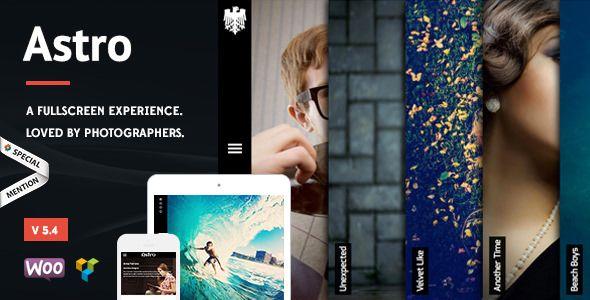 Astro v5.4 - Showcase/Photography WordPress Theme