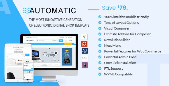 Automatic v2.0 - WooCommerce Theme For Electronic