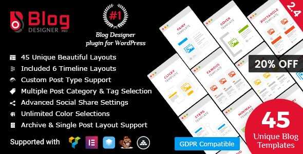 Blog Designer PRO For WordPress v2.4