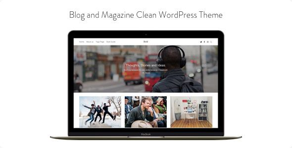Bold v1.0.3 - Blog And Magazine Clean WordPress Theme