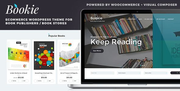 Bookie v1.3.7 - WordPress Theme for Books Store