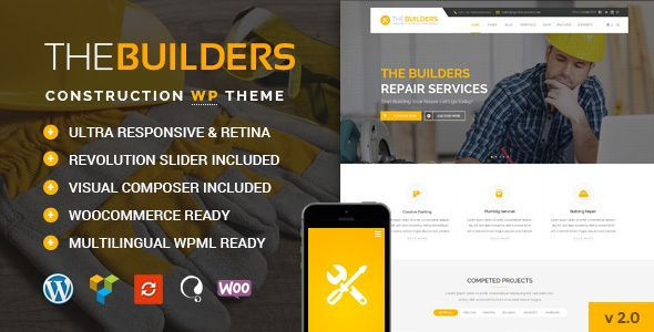 The Builders v2.5 - Construction WordPress Theme