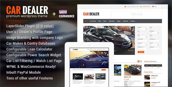 Car Dealer v1.4.8 - Automotive Responsive WordPress Theme