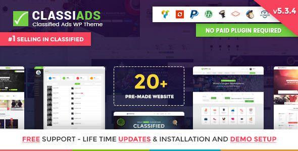 Classiads v5.3.4 - Classified Ads WordPress Theme