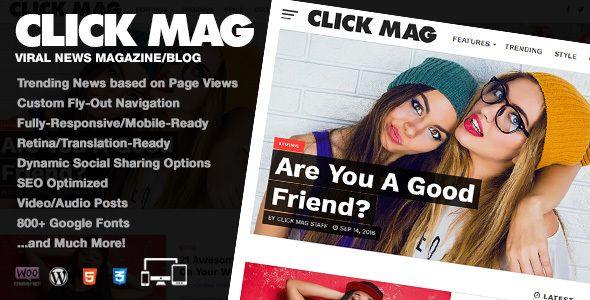 Click Mag v2.1.0 - Viral WordPress News Magazine/Blog Theme