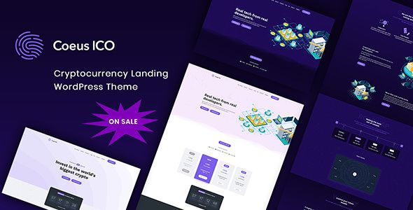 Coeus v1.1.1 - Cryptocurrency Landing Page Theme