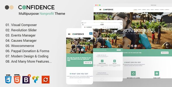Confidence v3.2.5 - Multipurpose Nonprofit Theme