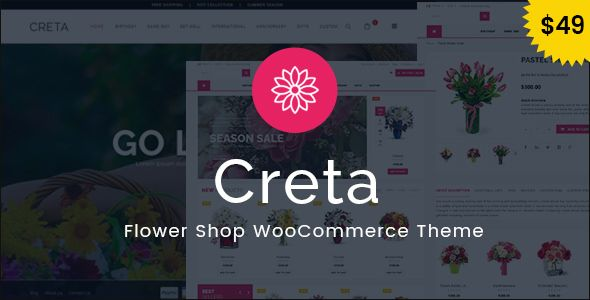 Creta v3.4 - Flower Shop WooCommerce WordPress Theme