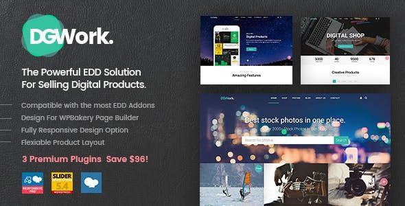 DGWork v1.6 - Powerful Responsive Easy Digital Downloads