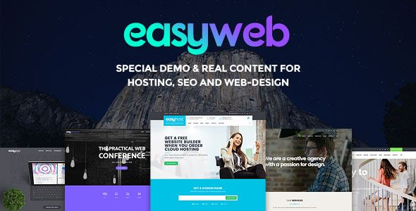 EasyWeb v2.2.9 - WP Theme For Hosting, SEO And Web-design