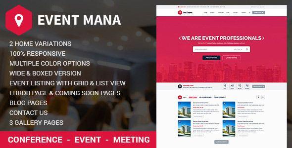 Event Management WordPress Theme v1.8.1
