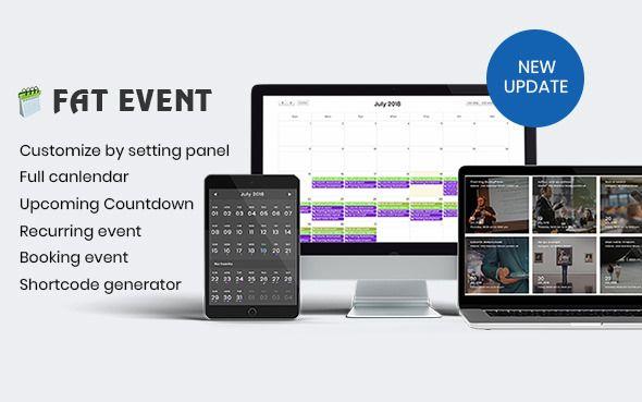 FAT Event v1.5.1 - WordPress Event And Calendar Booking