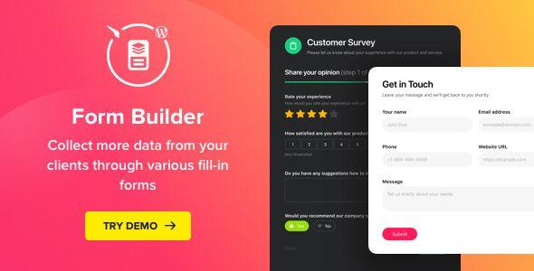 Form Builder v1.2.0 - WordPress Form Plugin