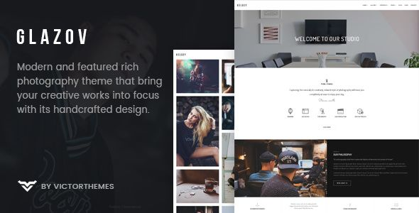 Glazov v1.0 - Photography WordPress Theme