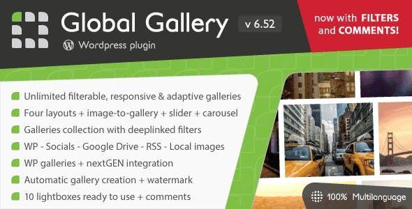 Global Gallery v6.52 - WordPress Responsive Gallery