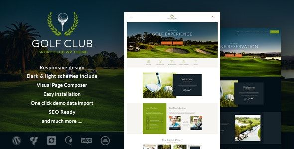 Golf Club v1.4.3 - Sports & Events WordPress Theme