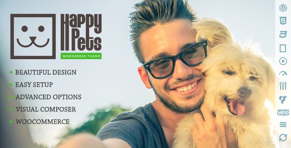 Happy Pets v1.6.1 - A Pet Shop/Services WordPress Theme