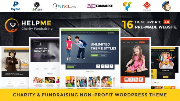 HelpMe v2.7 - Nonprofit Charity WordPress Theme