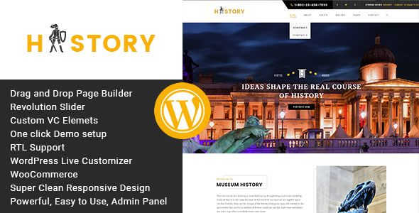 History v1.2.2 - Museum And Exhibition WordPress Theme