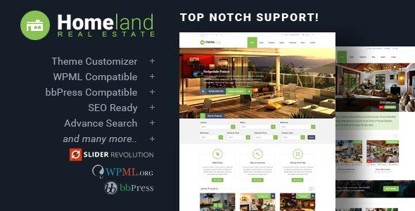 Homeland v3.2.6 - Responsive Real Estate Theme