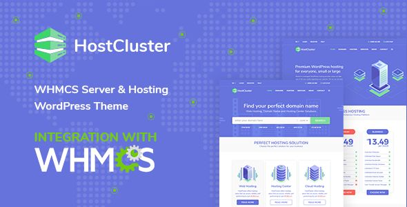 HostCluster v1.4.2 - WHMCS Server & Hosting Theme