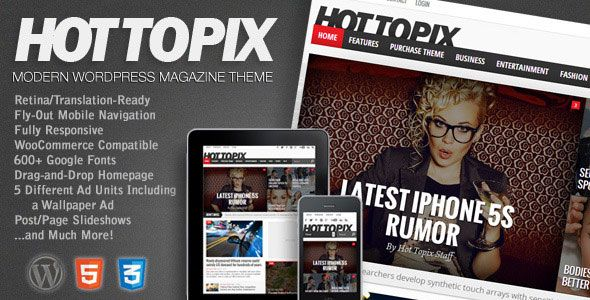 Hot Topix v3.3.1 - Modern WordPress Magazine Theme