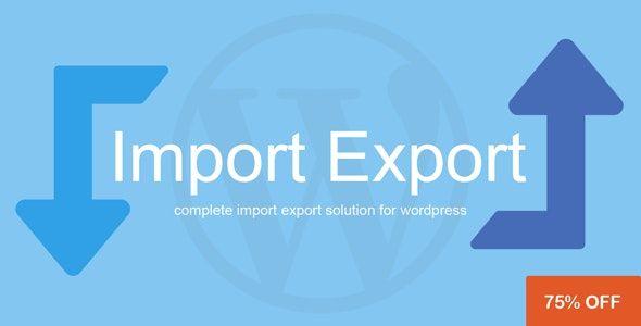 WP Import Export v1.1.0
