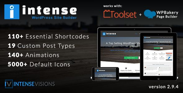 Intense v2.9.4 - Shortcodes And Site Builder For WordPress