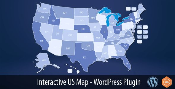 Interactive US Map v2.2.3 - WordPress Plugin