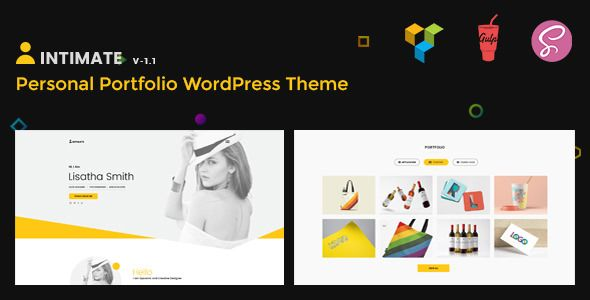 Intimate v1.1 - Minimal Portfolio WordPress Theme