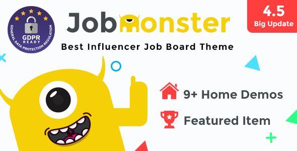 Jobmonster v4.5.1.8.5 - Job Board WordPress Theme
