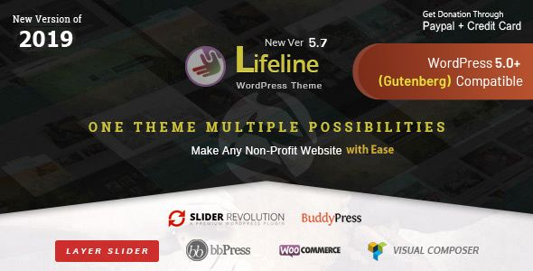 Lifeline v5.7.1 - NGO Charity Fund Raising WordPress Theme