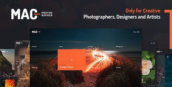 MAC v1.1 - Photography Fullscreen WordPress Theme