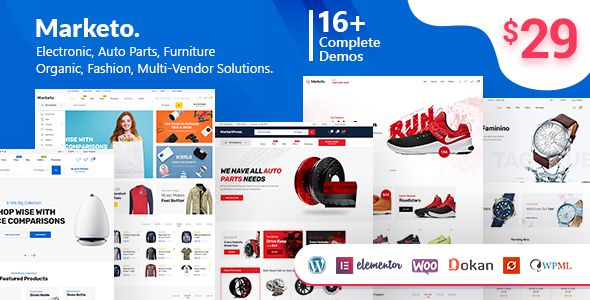 Marketo v1.3.8 - ECommerce & Multivendor Theme