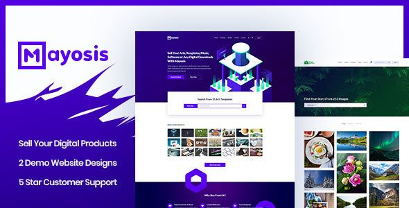 Mayosis v2.0 - Digital Marketplace WordPress Theme