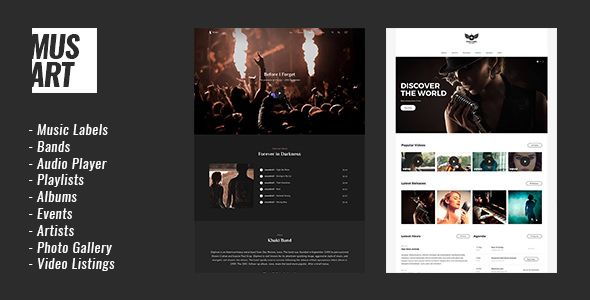 Musart v1.0.1 - Music Label And Artists WordPress Theme
