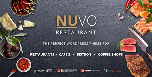 NUVO v6.1.0 - Restaurant, Cafe & Bistro WordPress Theme