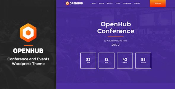 OpenHub v1.1 - A Stylish Events & Conference Theme