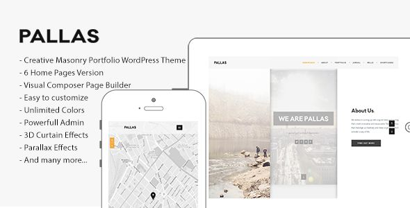 Pallas v1.7.2 - Creative Multi-Purpose WordPress Theme