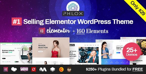 Phlox Pro v5.0.9 - Elementor MultiPurpose WordPress Theme