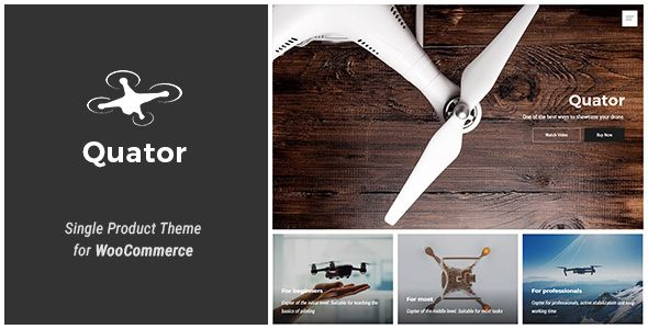 Quator v1.0.1 - Single Product WordPress Theme