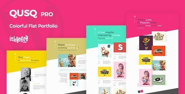 Qusq Pro v1.6 - Flat Colorful Portfolio